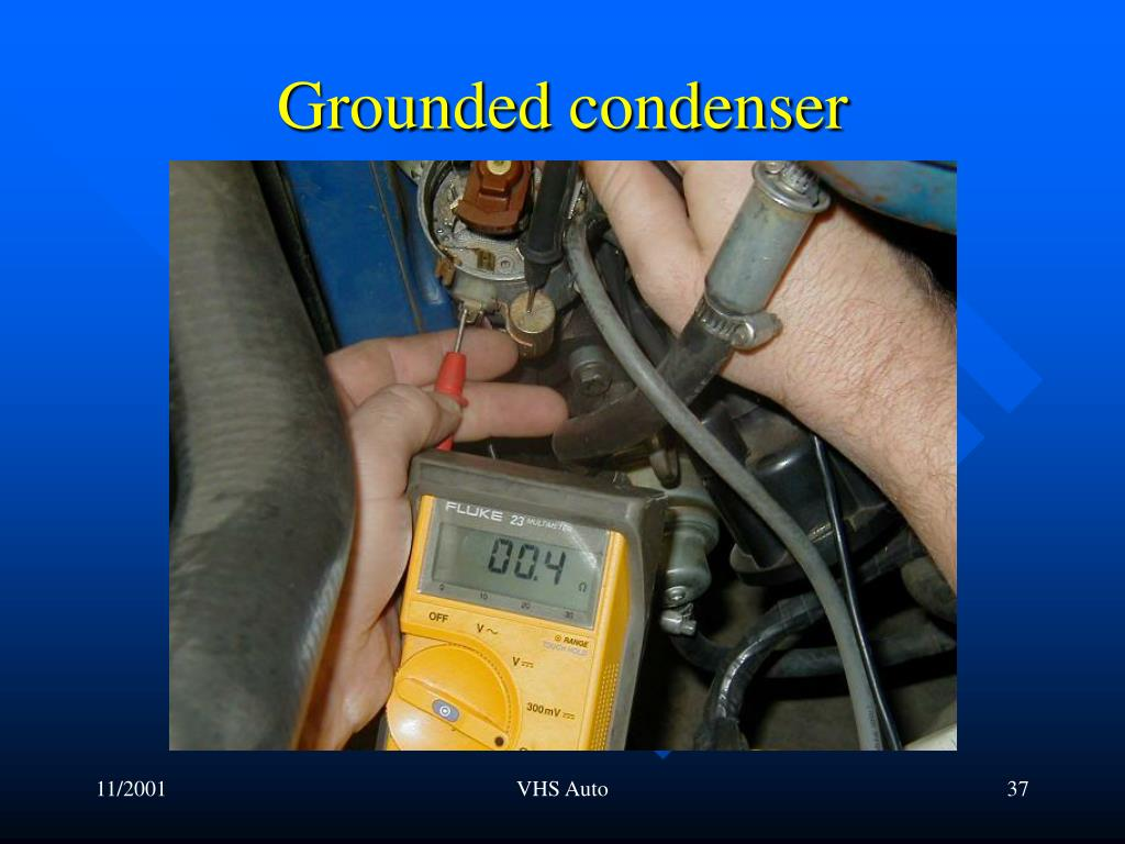 Grounded condenser