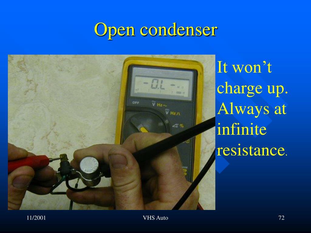 Open condenser