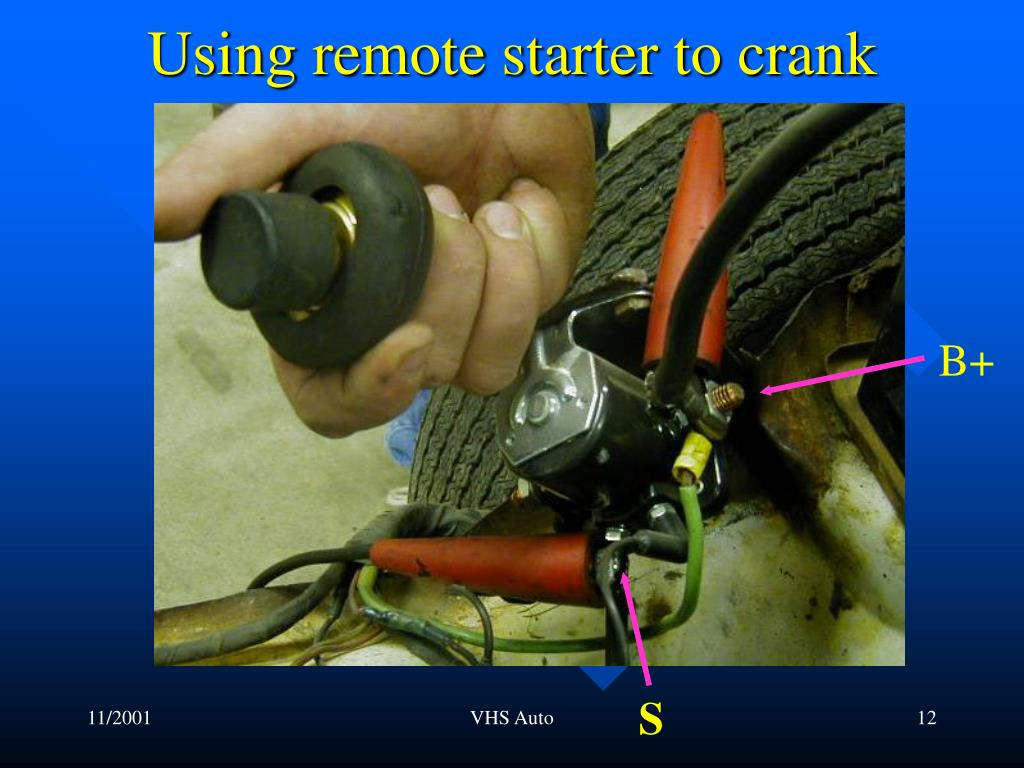 Using remote starter to crank
