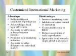 customized international marketing