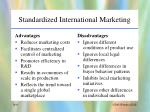 standardized international marketing