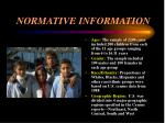 normative information