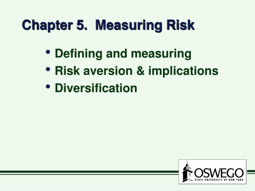 chapter 5 measuring risk