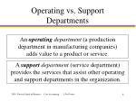 operating vs support departments