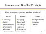 revenues and bundled products22