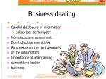 business dealing