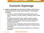 economic espionage
