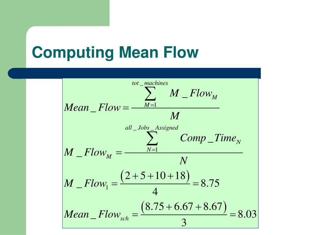 Computing Mean Flow