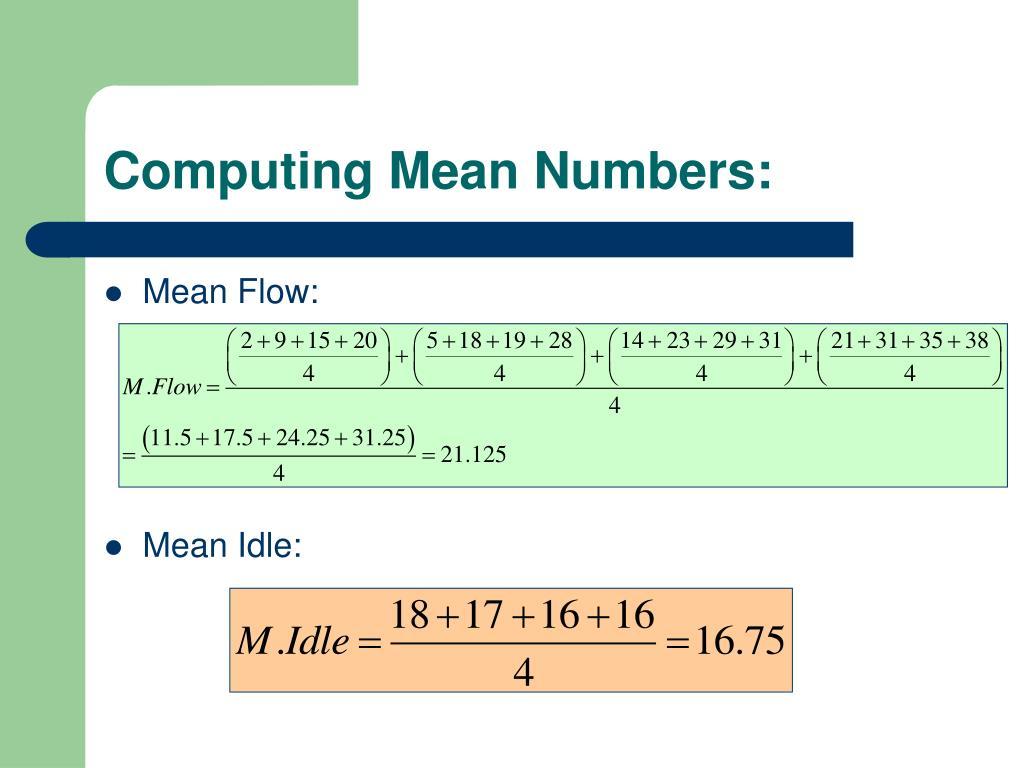 Computing Mean Numbers: