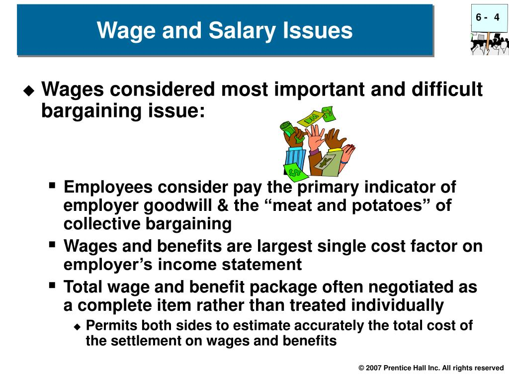the issue of wages and benefits in collective bargaining agreement All about collective bargaining agreements, and trade unions and salaries, wages and work and more on mywage kenya what is collective bargaining and agreements a collective agreement is defined in the labour relations act as a written agreement concerning any terms and conditions of employment made between a trade union and an employer.