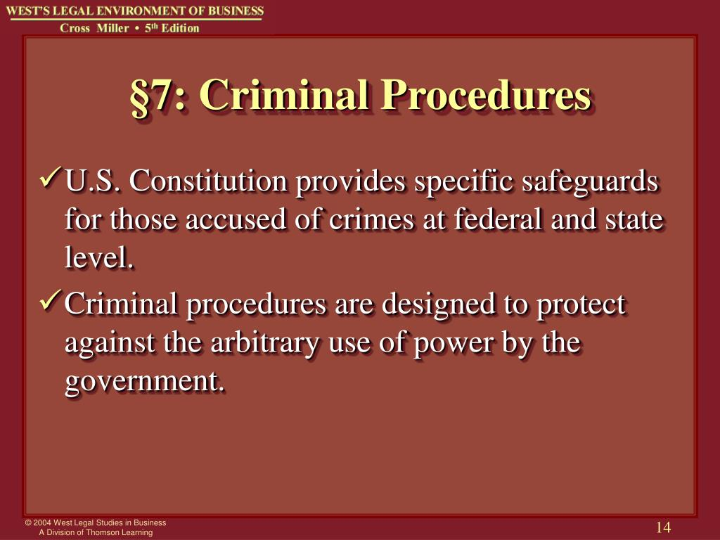 what is the importance of criminal