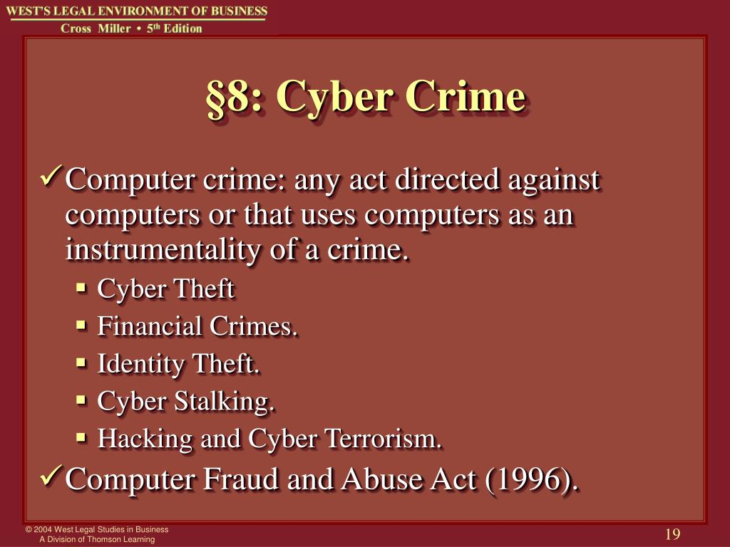 cyber laws and cyber crime Cyber laws this page contains the uae laws and resolutions concerning  activities conducted online federal law 5 of 2012 on combatting cybercrimes ( pdf,.