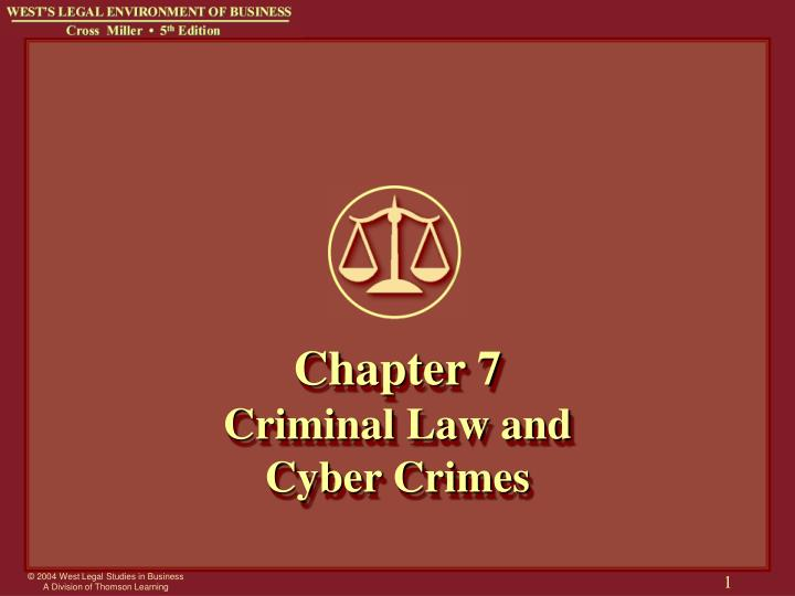 "chapter 7 criminal law Similar to the civil law concept of respondeat superior discussed in chapter 1 "" introduction to criminal law"", vicarious liability in criminal law is common."