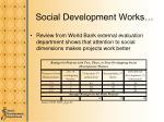 social development works