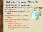 abdominal distress when to seek medical attention