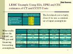 lrmc example using eia epri and cec estimates of ct and ccgt costs