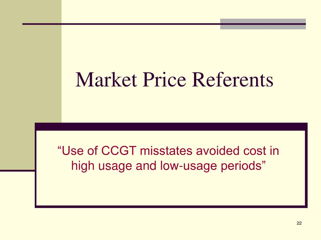 Market Price Referents