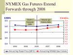 nymex gas futures extend forwards through 2008