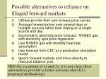 possible alternatives to reliance on illiquid forward markets