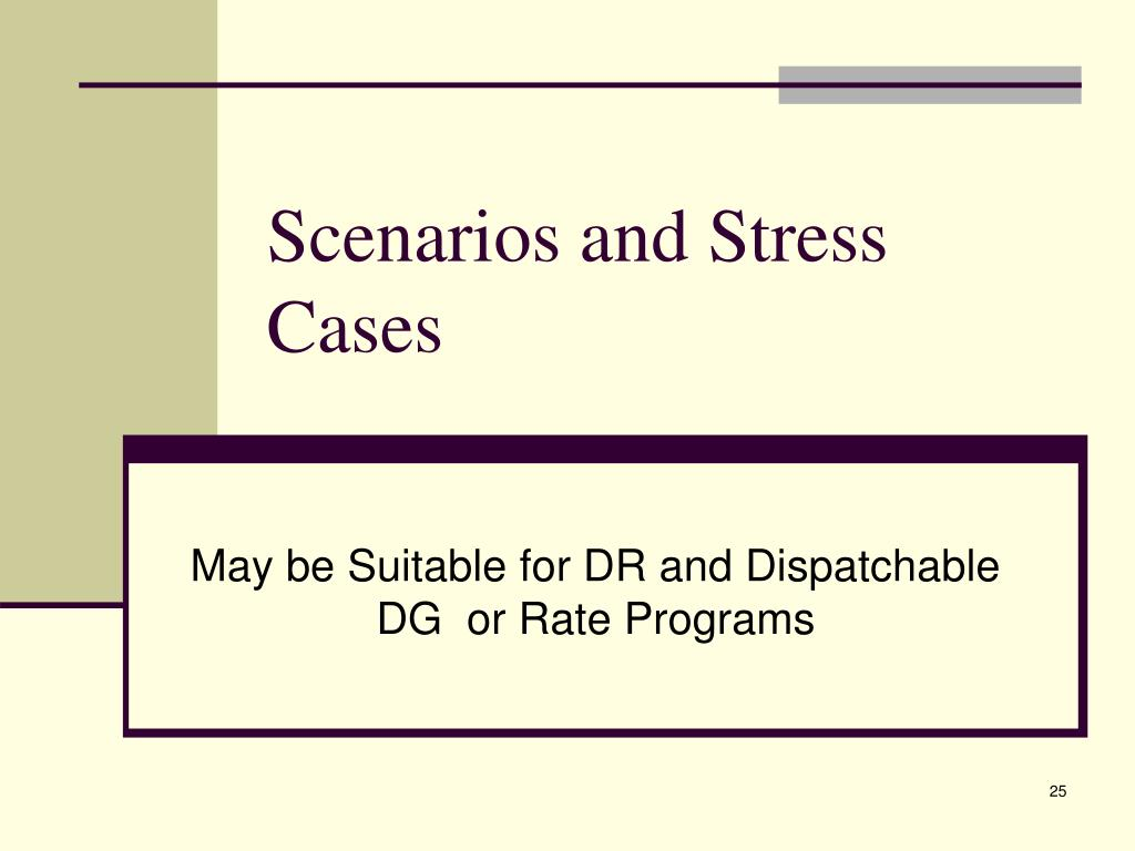 Scenarios and Stress Cases