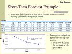 short term forecast example