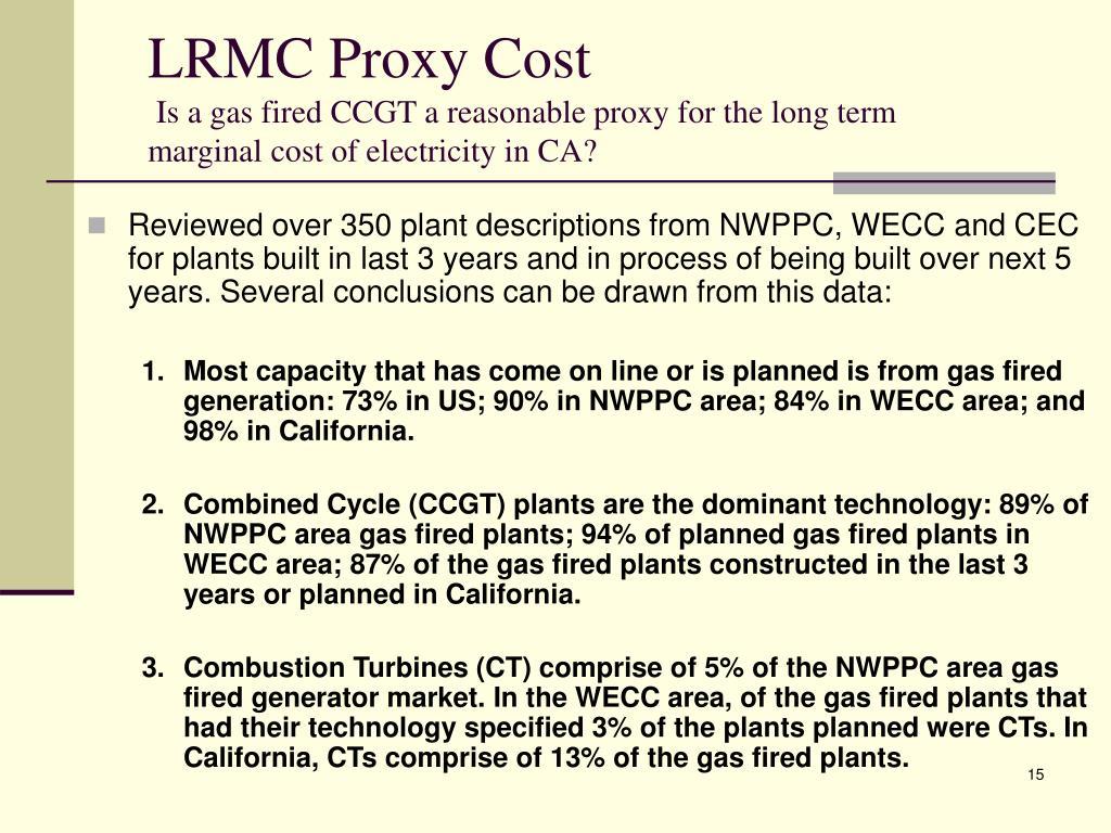 LRMC Proxy Cost