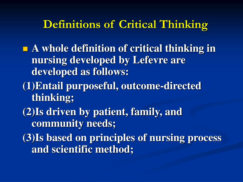 Critical thinking and decision making in nursing management