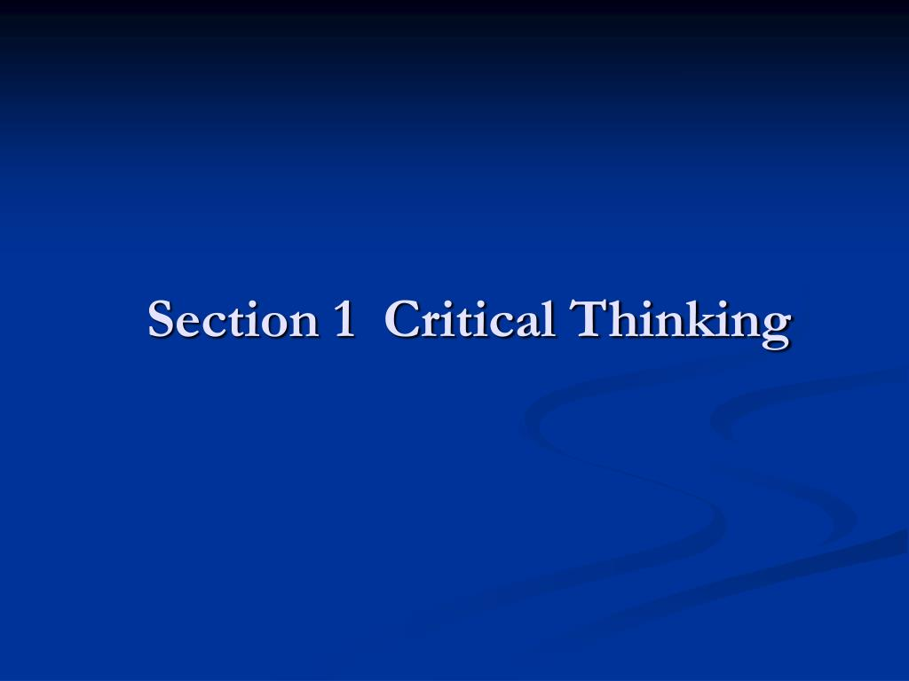 critical thinking for nurses powerpoint