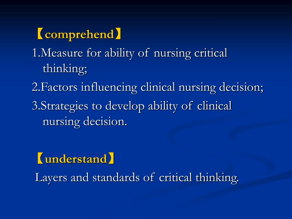 nursing critical thinking assessment tool Critical thinking for nurses  iowa critical thinking assessment tool  the center for critical thinking was developed to look specifically at nursing a).