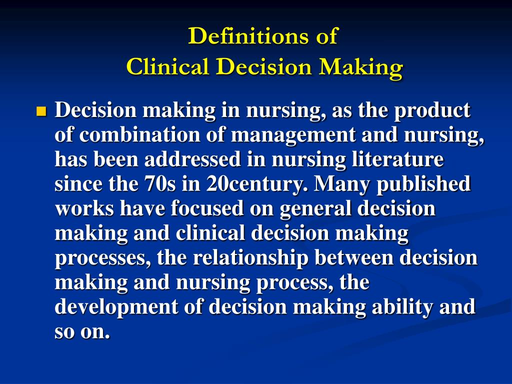 essays on decision making in nursing Nursing school application essay they are going to admit you to a program based on your chances of making it through and i really hate writing essays.