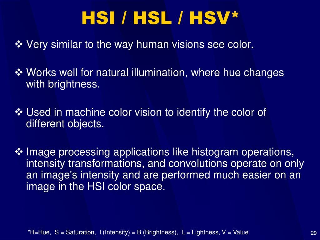 HSI / HSL / HSV*
