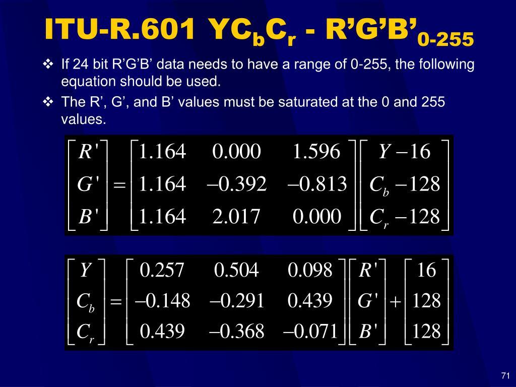 ITU-R.601 YC