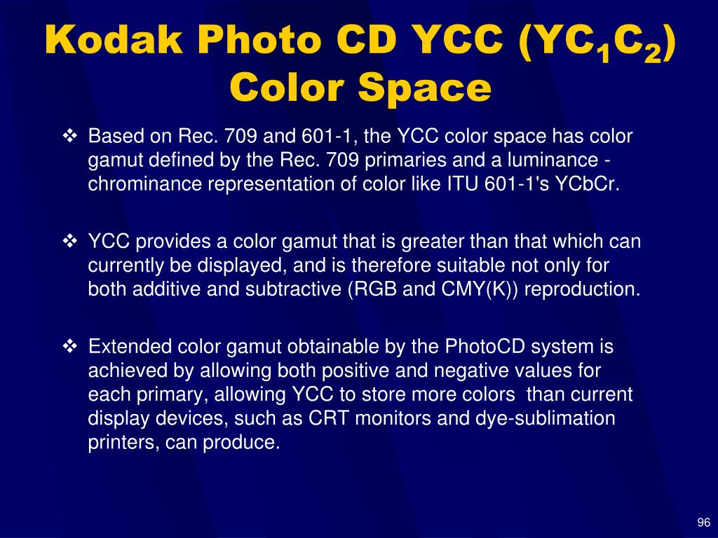 Kodak Photo CD YCC (YC