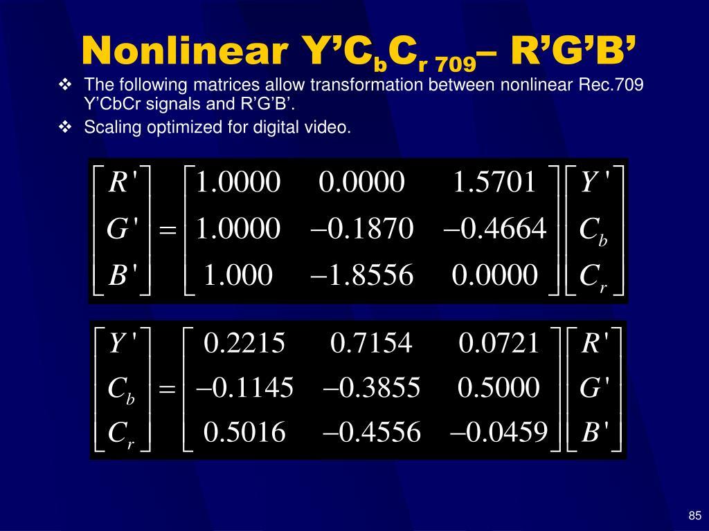 Nonlinear Y'C