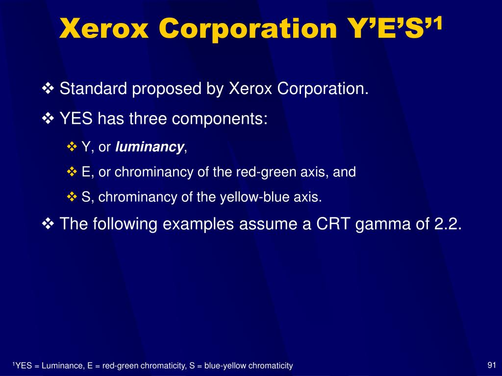 Xerox Corporation Y'E'S'