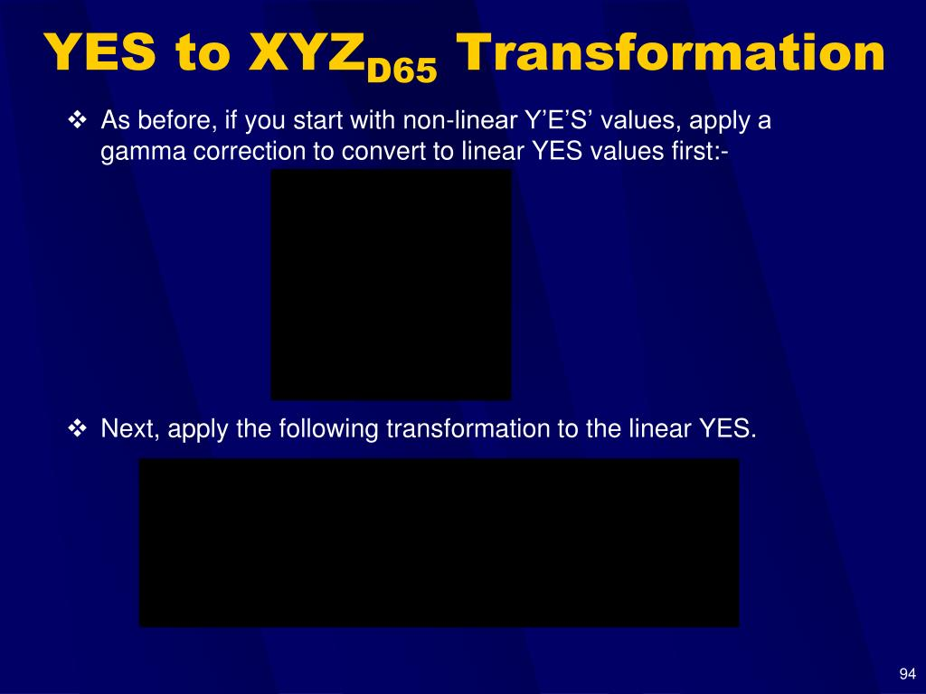 YES to XYZ
