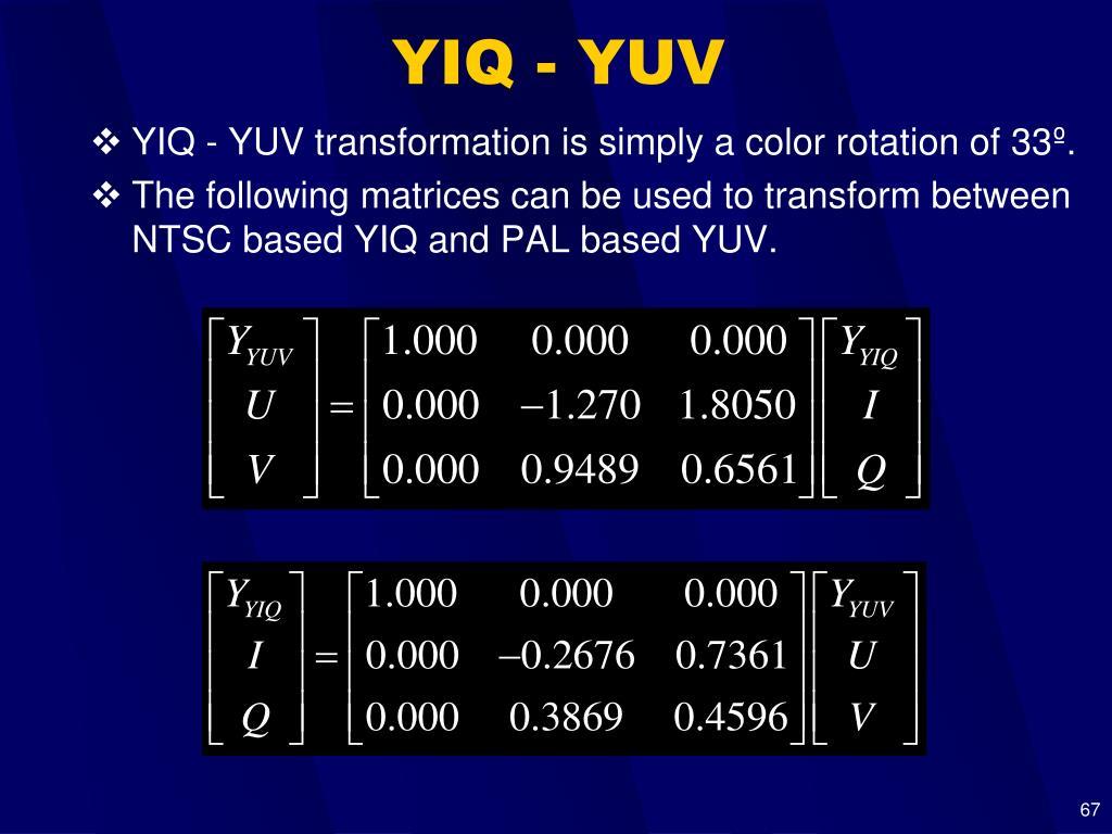 YIQ - YUV