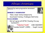 african americans