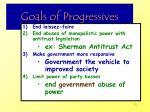 goals of progressives