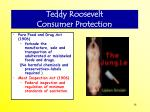 teddy roosevelt consumer protection