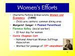 women s efforts