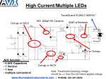 high current multiple leds