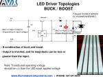 led driver topologies buck boost