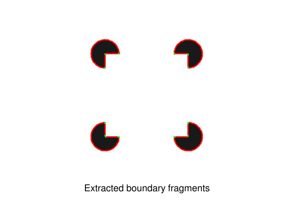 Extracted boundary fragments
