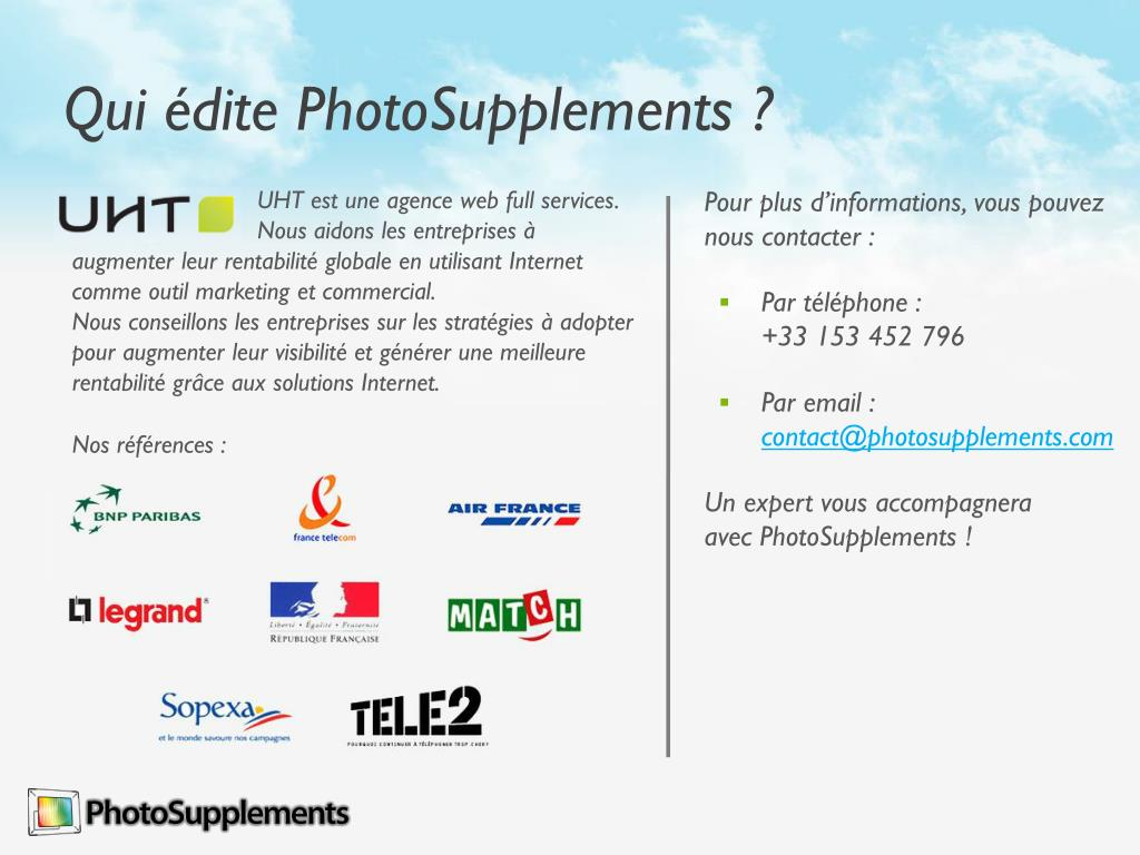 Qui édite PhotoSupplements ?