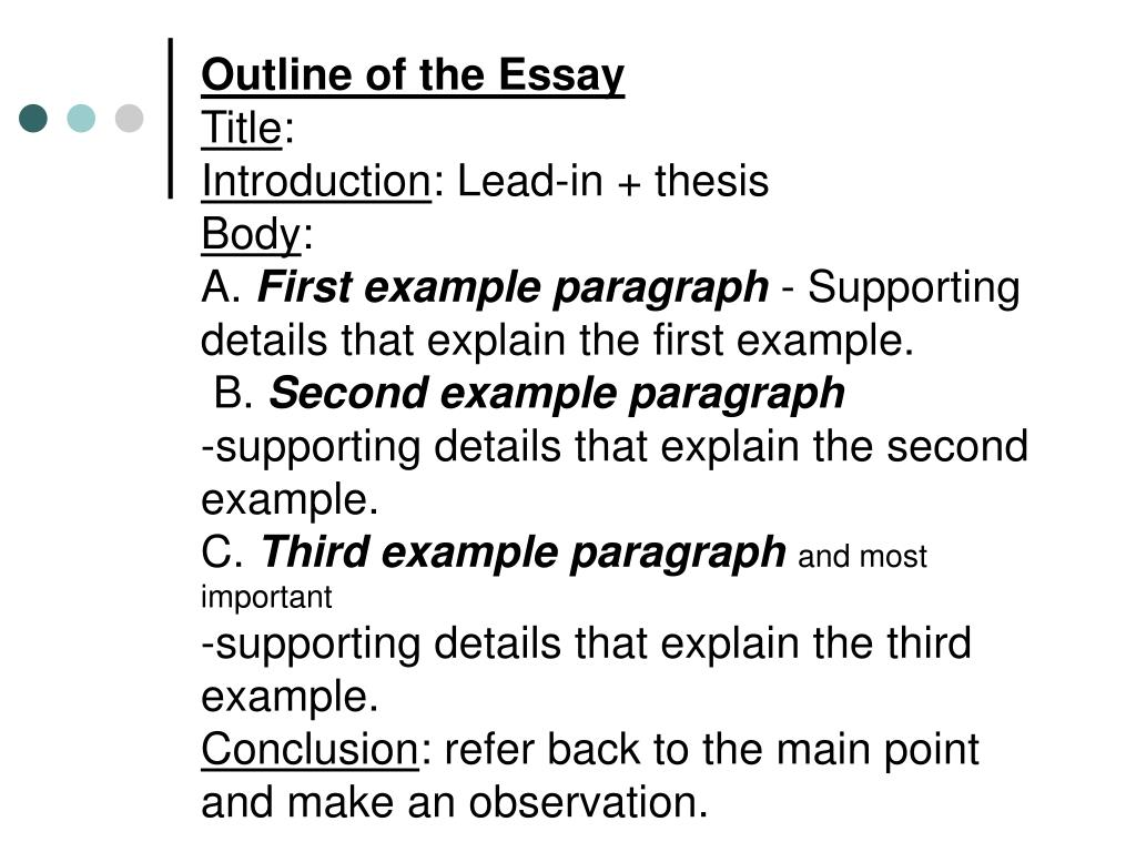 illustration and example essay How do i write an example/illustration essay the example/illustration essay is the most simple, straightforward essay form you will encounter.