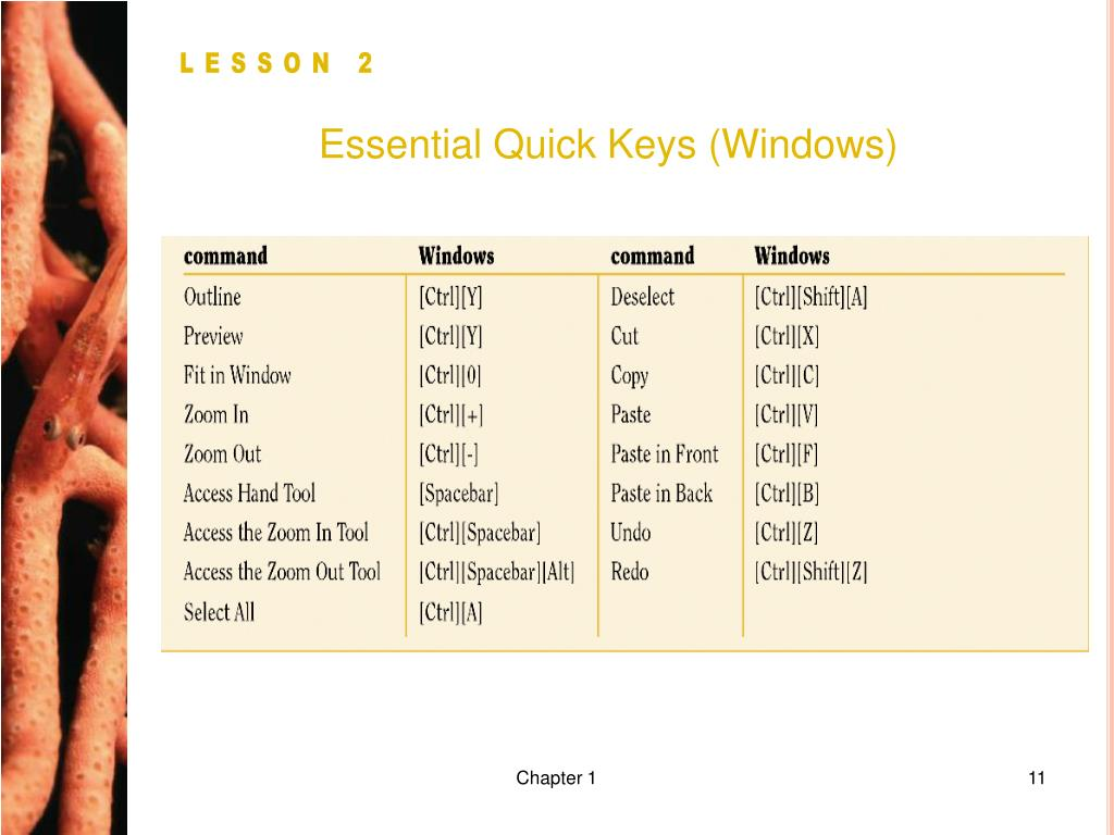 Essential Quick Keys (Windows)