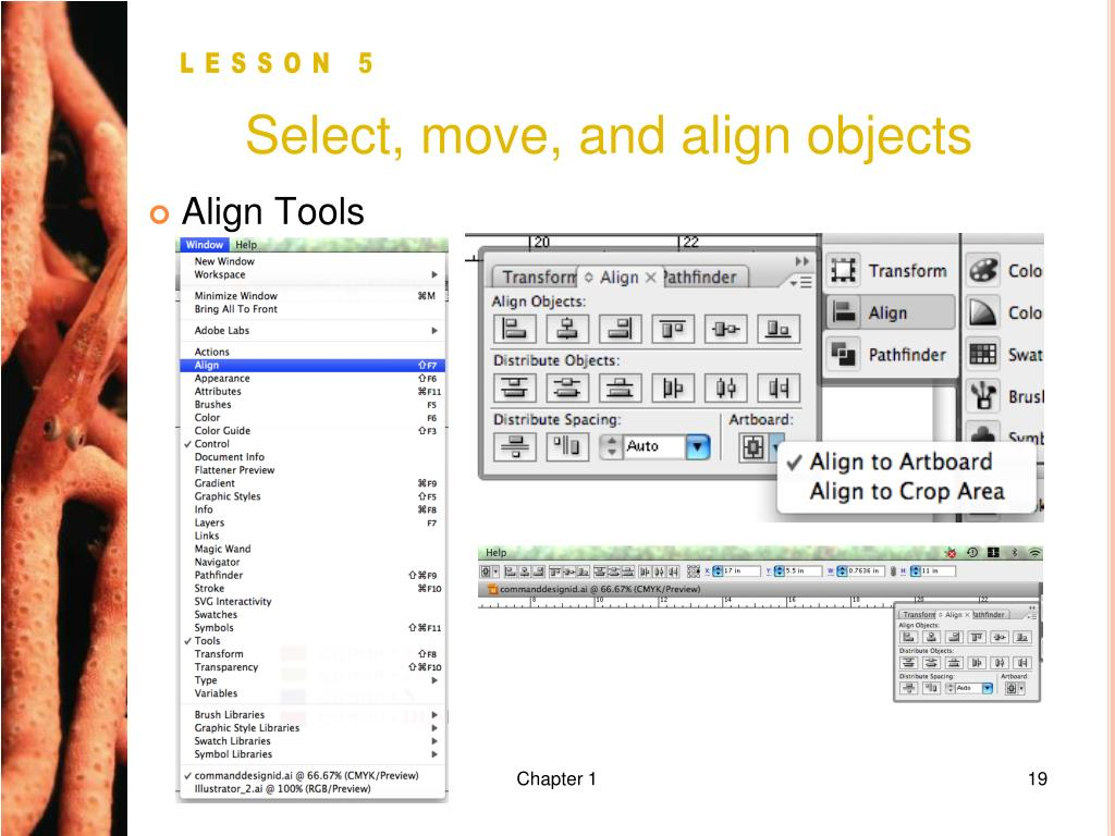 Select, move, and align objects