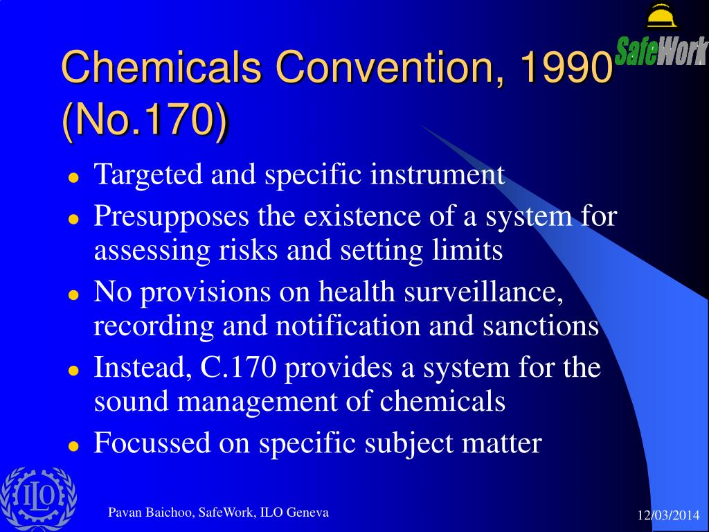 Chemicals Convention, 1990 (No.170)