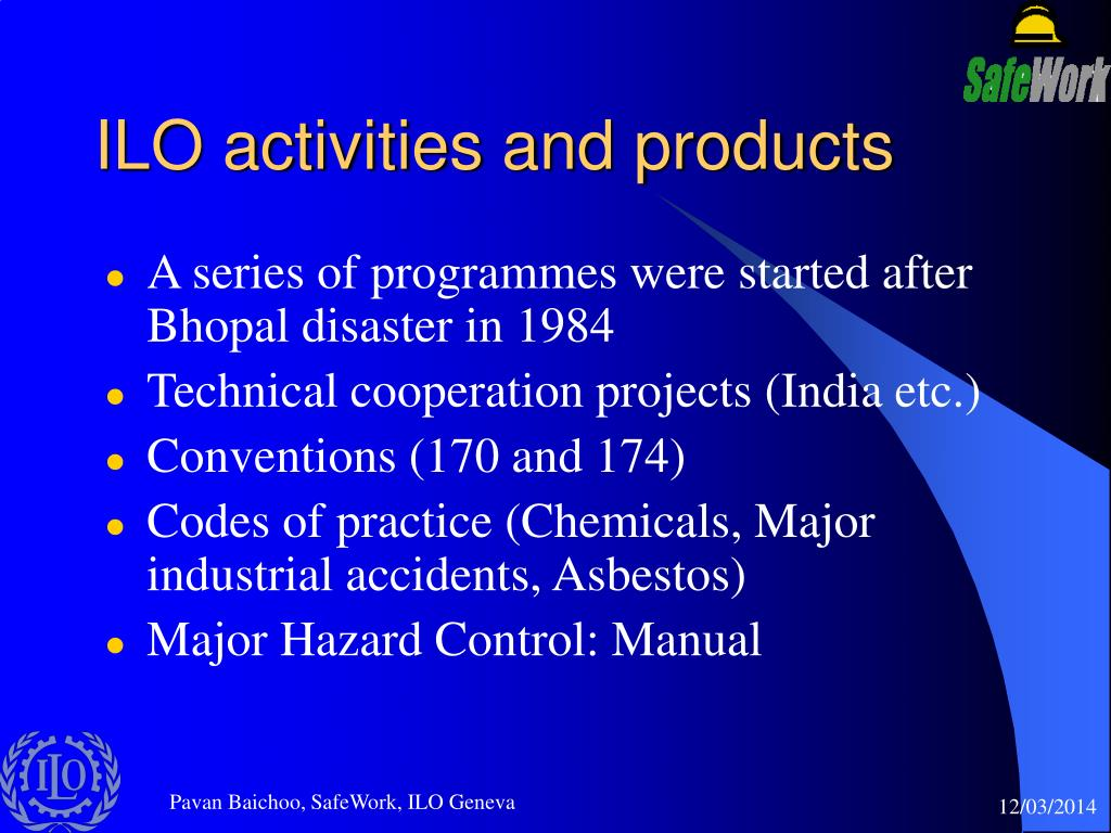ILO activities and products